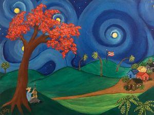Starry Night in Puerto Rico - Fine Art by Evelyn Hernandez