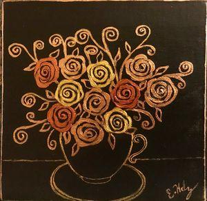 Art Deco Metallic Floral