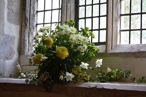 FLOWERS ON THE CHURCH WINDOWSILL - Irina Ushakova