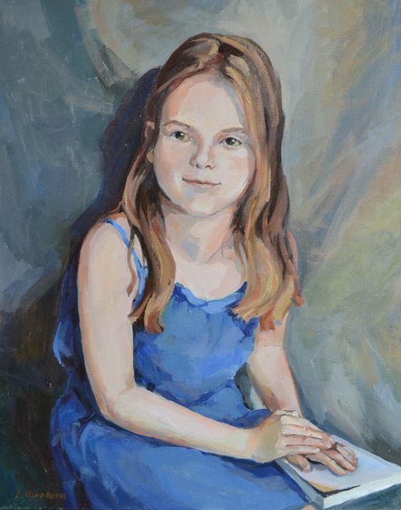 A Girl in a Blue Dress - Irina Ushakova