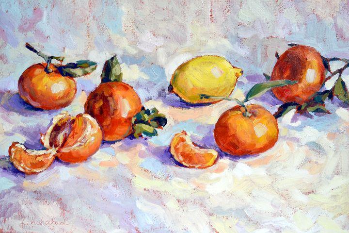 Tangerines and lemon. - Irina Ushakova