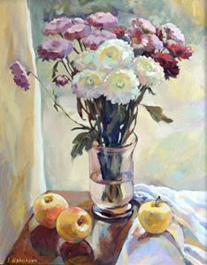 Chrysanthemums - Irina Ushakova