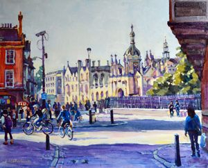 Cambridge. The city center 2. - Irina Ushakova