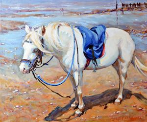 PONY ON THE BEACH - Irina Ushakova