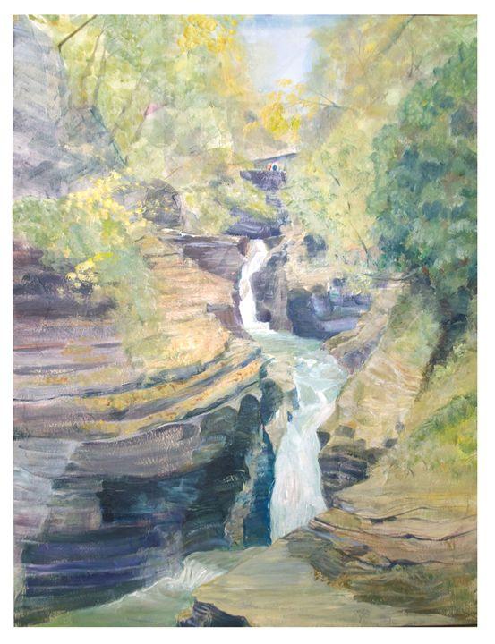 Magnificent Watkins Glen Gorge - Art by Coralee