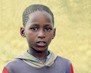 Little boy in Lesotho