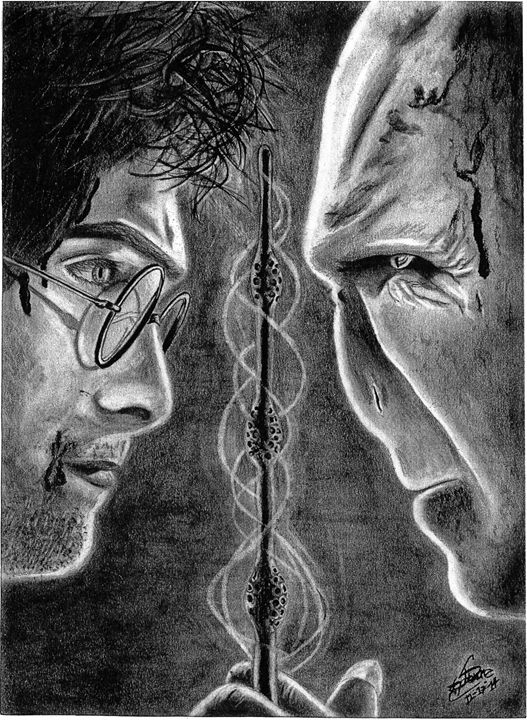 Harry Potter vs Voldemort - graphitecharcoal