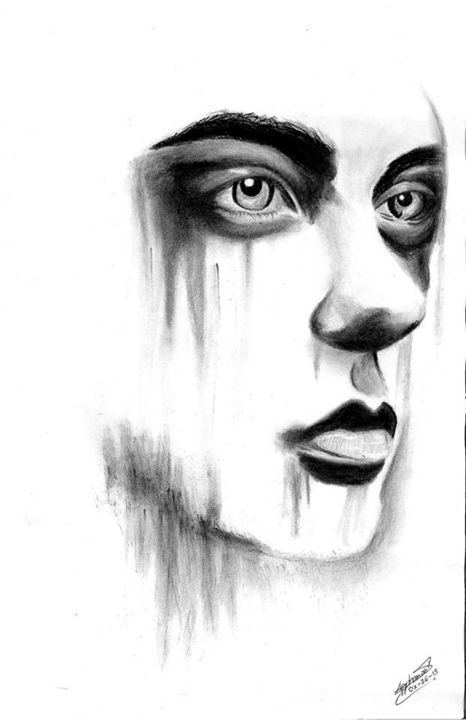 is she crying? - graphitecharcoal