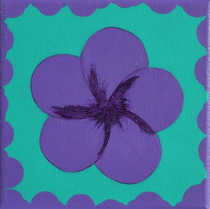 Purple Plumeria 1 - Zen8 Gallery