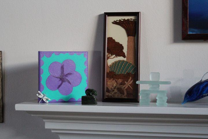 Purple Plumeria One On Mantle - Zen8 Gallery