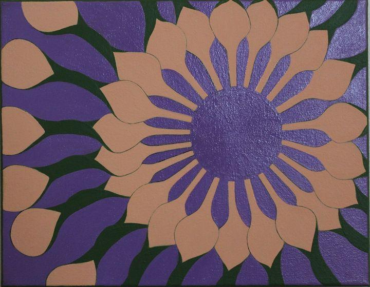 African Daisy on Purple 1 - Zen8 Gallery