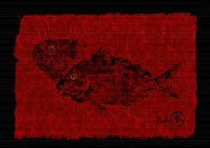 Gyotaku Scup Series 2  Red Unryu Pap