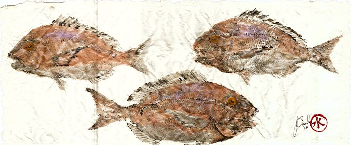 Scup on Rice Paper - ISLAND FISH PRINTS