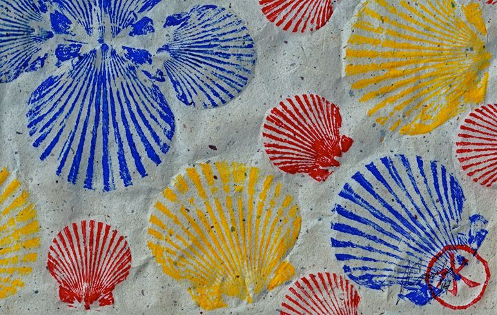 Scallops - Seafood Rainbow - ISLAND FISH PRINTS