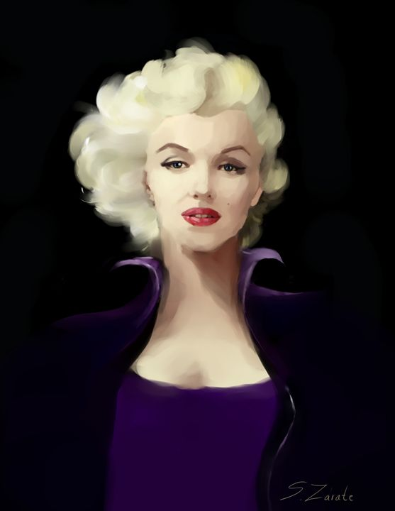 Marylin in Violet - Art gallery Susana Zárate