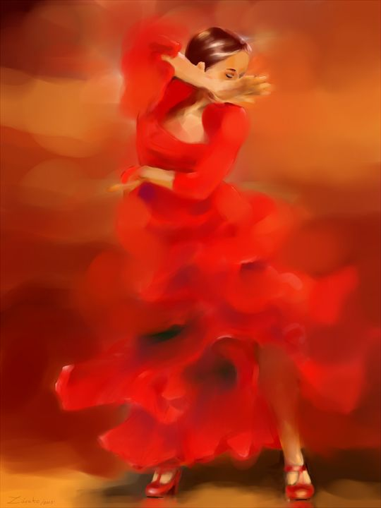 Flamenco Dancer - Art gallery Susana Zárate