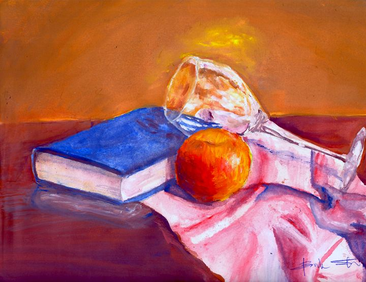 Still Life With Book - B's Fine Arts