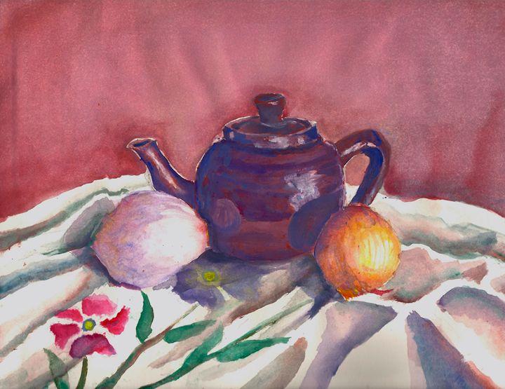 Still Life With Teapot - B's Fine Arts