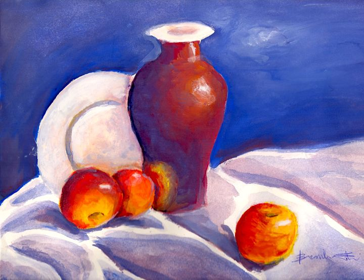 Still Life With Apples - B's Fine Arts