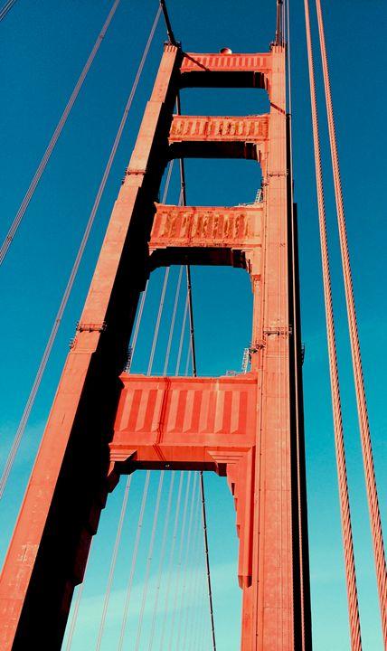 The Golden Gate From Below - B's Fine Arts