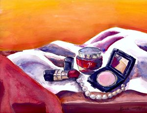 Still Life With Cosmetics