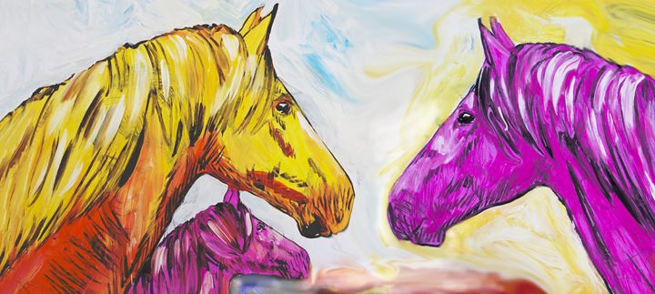 Yellow And Pink Horse - Juhan Rodrik