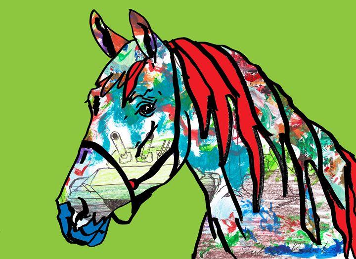 Paint Horse In Green - Juhan Rodrik