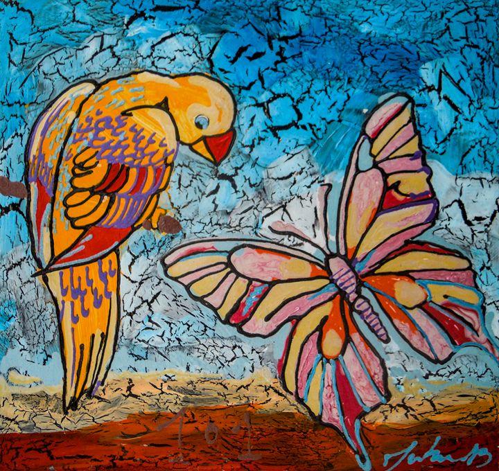 Parrot Meets a Butterfy - Juhan Rodrik