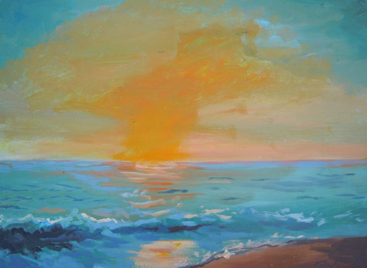 Sunset At The Beach - Juhan Rodrik