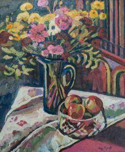 Fruit in Glass Bowl - Marla's Gallery