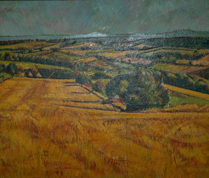 Autumn Orange Fields 2 - Marla's Gallery