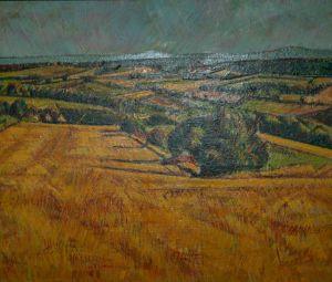 Autumn Orange Fields 2