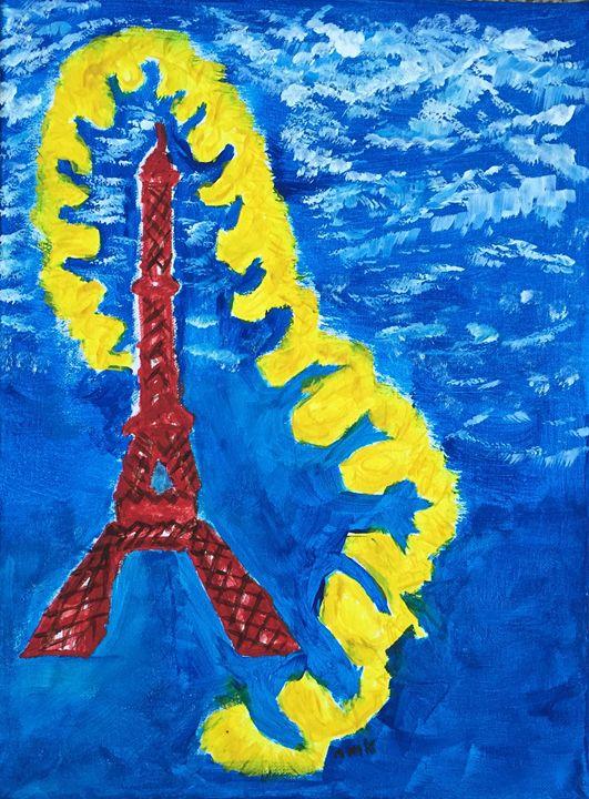 """""""Paris Blue"""" - www.word-art.co"""