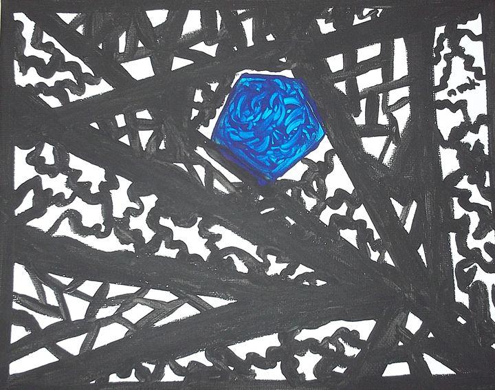 Blue Octagon - www.word-art.co