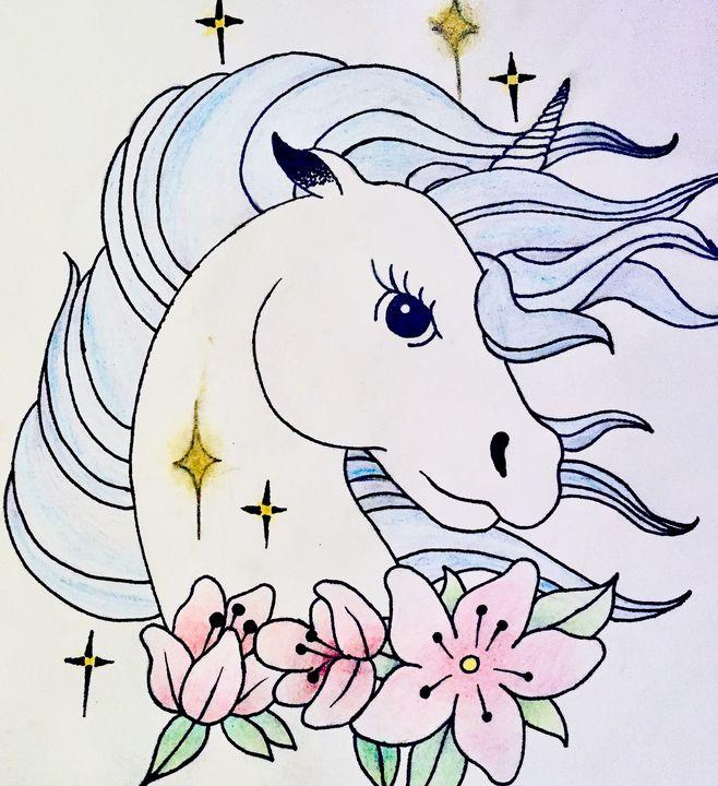 Floral Unicorn - Laura Burt