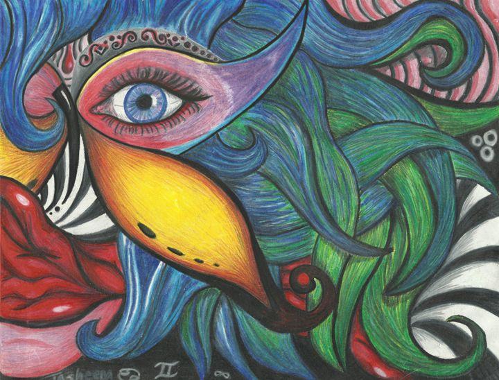 Butterfly Eye - Sheena Beena Art