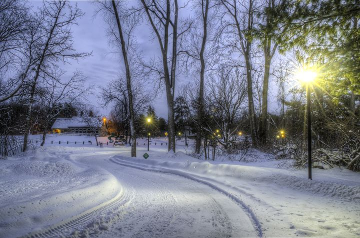 Winter Path Home - Kazoo in HDR