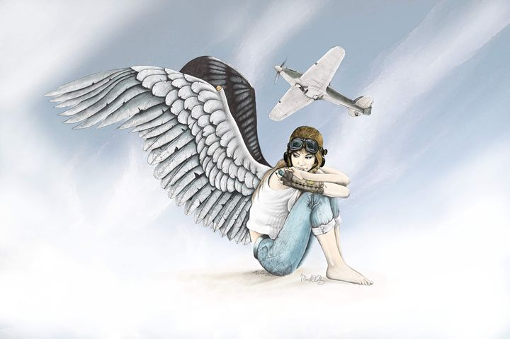Steampunk Angel - Mark Collins Art