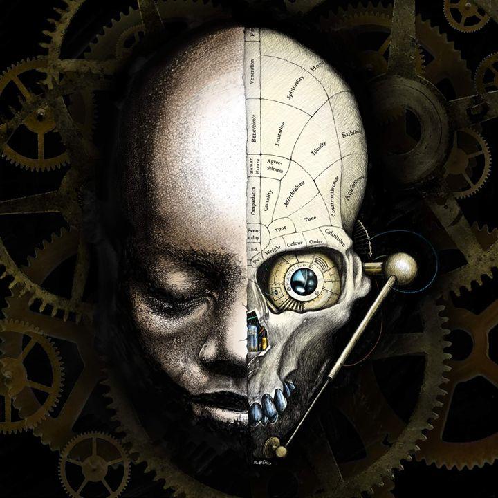 Steampunk skull - Mark Collins Art