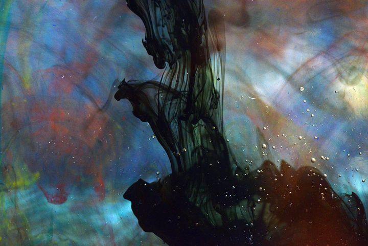 ink in water 1 - the three devils - Flowers