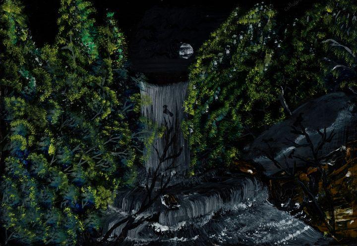 midnight waterfall. - collins kulei