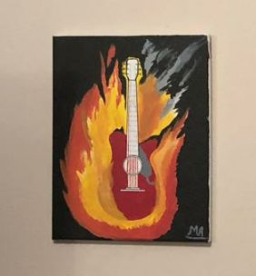 Burning Guitar - M.ALI