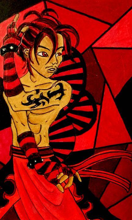 Rojo (Red) - Jazzy Bear Arts