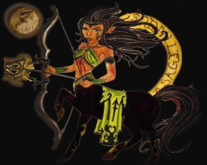 Sagittarius in Black - Jazzy Bear Arts