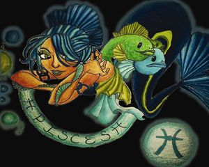 Pisces in Black - Jazzy Bear Arts