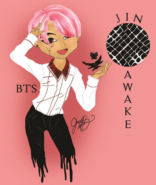 BTS Jin Awake - Jazzy Bear Arts