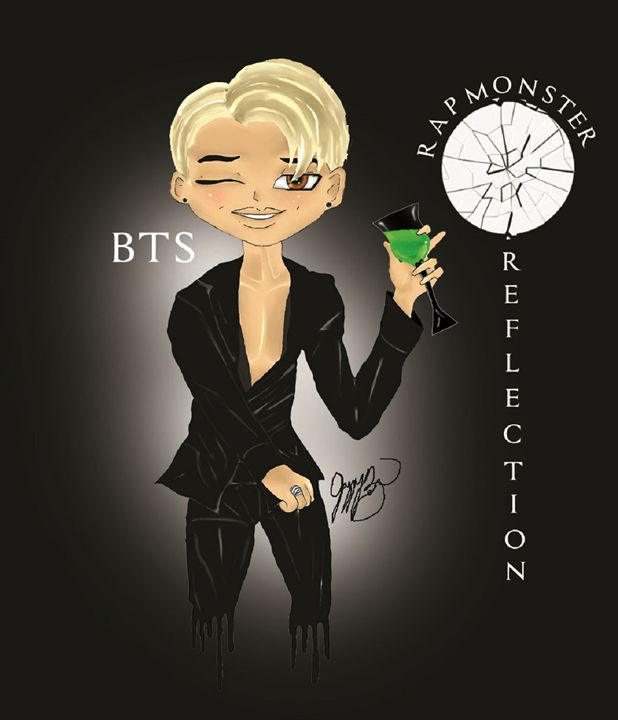 BTS Rap Monster Reflection - Jazzy Bear Arts