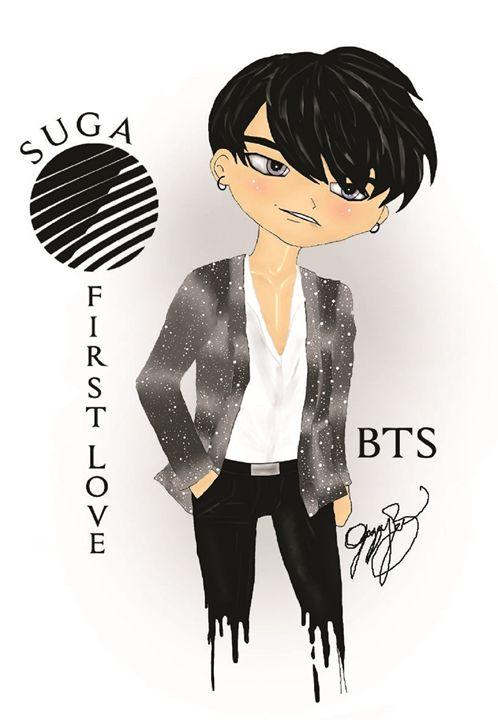 BTS Suga First Love - Jazzy Bear Arts