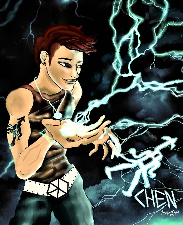 EXO Chen Lightning - Jazzy Bear Arts
