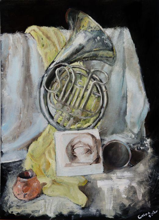 Still life with scarf - Corina Ghetu